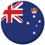 Victoria State Flag 58mm Mirror Keyring